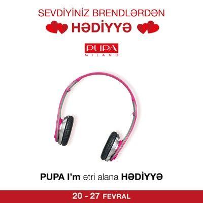 #PUPA brendindən I'm ətrini alana qulaqcıq #hədiyyə