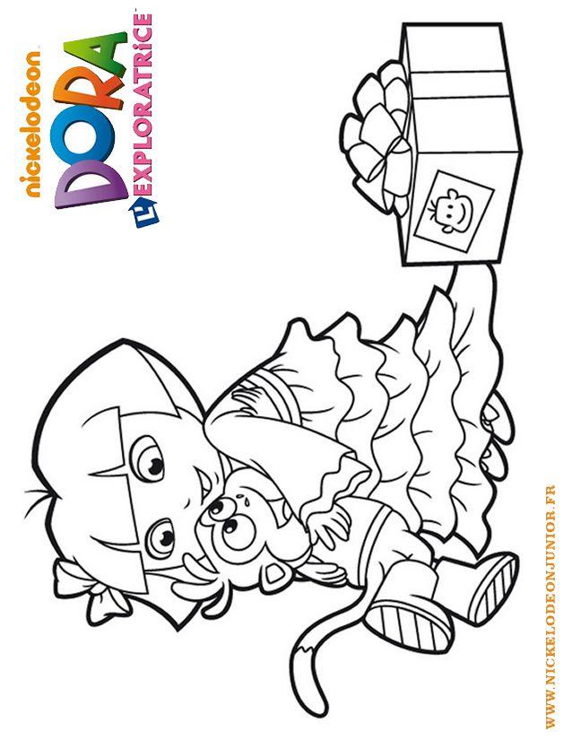 Coloriage Dora l'exploratrice à imprimer gratuitement