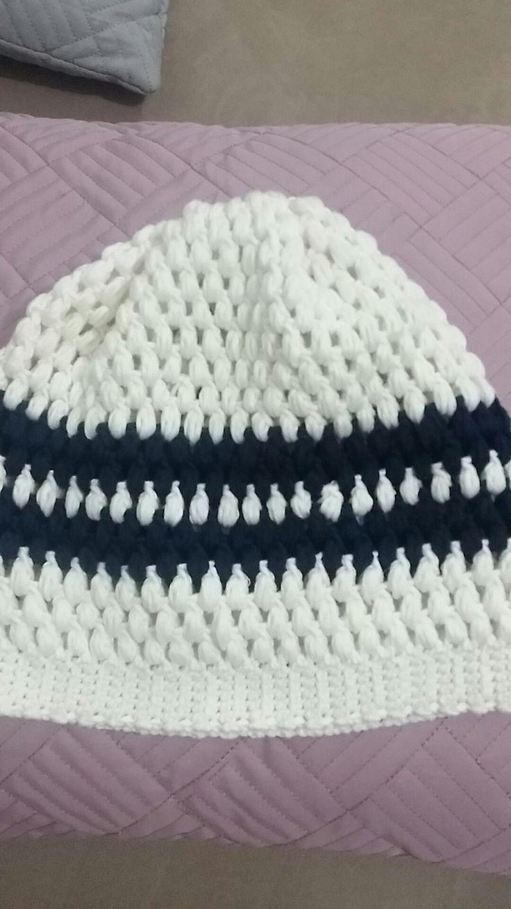 Crochet long beanie