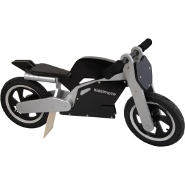 Zwart-zilveren Kiddimoto superbike loopfiets    Steel de show met deze fantastische MotoGP superbike replica, gebaseerd op de echte racemotoren.  Met deze loopfiets ontwikkel je razendsnel een goede balans, coördinatie en motoriek waardoor de overstap naar de echte fiets haast vanzelf gaat.  Deze superbike is een stoer, orgineel en leerzaam kado waarmee bij ieder kind een lach op het gezicht getoverd wordt.