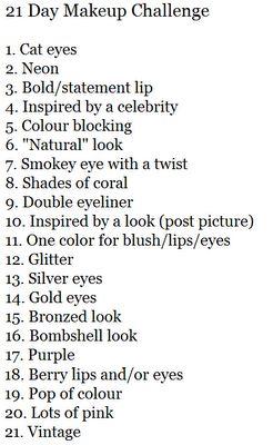 Makeup Challenge and Inspiration