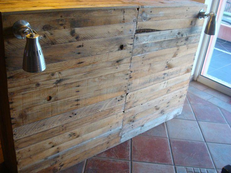 Tête de lit en bois de récup