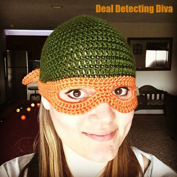 Do you have a Ninja Turtle lover in da house? Whip them up a beanie with mask with our free crochet pattern! Easy and quick and sure to please.