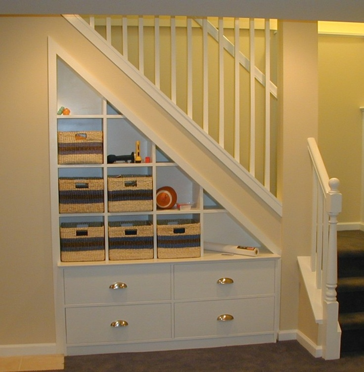 56 best drawers under staircase images on pinterest for Under stairs drawers plans