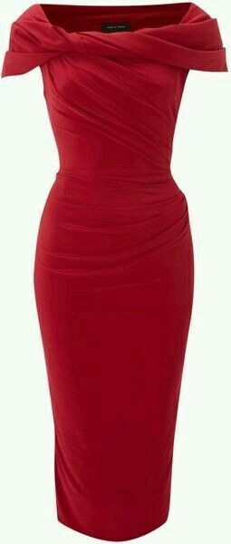 Red dress. Sleeve detail