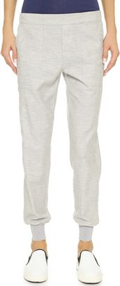 Vince Patch Pocket Jogger Pants - Shop for women's Pants - Heather Grey Pants