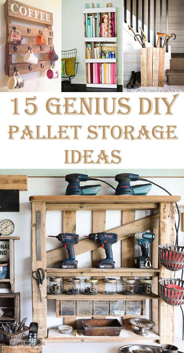 15 Genius DIY Pallet Storage Ideas
