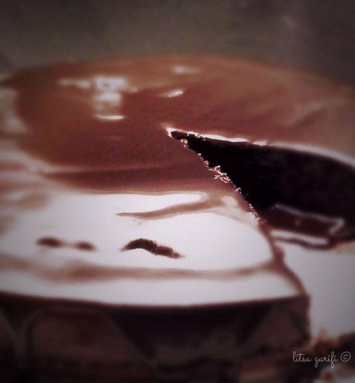 Paleo σοκολατόπιτα με ganache