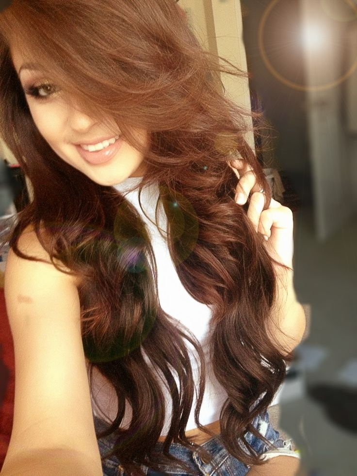 With my BELLAMI 22' dark brown extensions. | Hair and ...