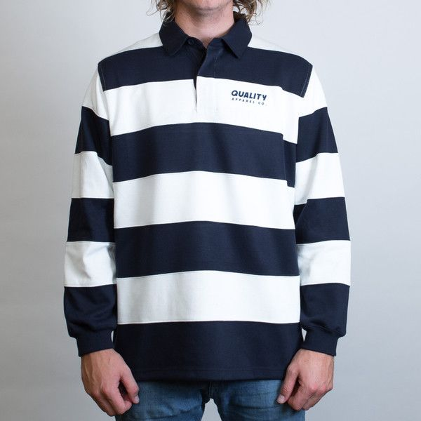 JB's Striped Rugby Jersey Leavers Gear NZ - The Print Room NZ - White/Black