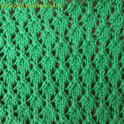 Net Lace knitting stitches