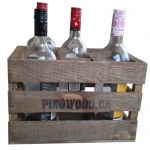 6 bottles vintage carrying case www.pinowood.ca