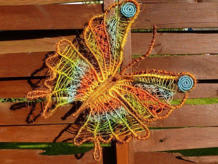 Macrame butterfly made by Macrame Art / Jolanta Surma