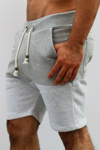 pantaloneta gris doble textura by IAN – urbanwear.co