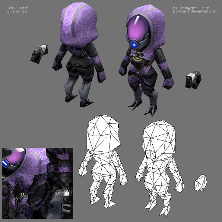 Lowpoly Tali by ~Pyroxene on deviantART