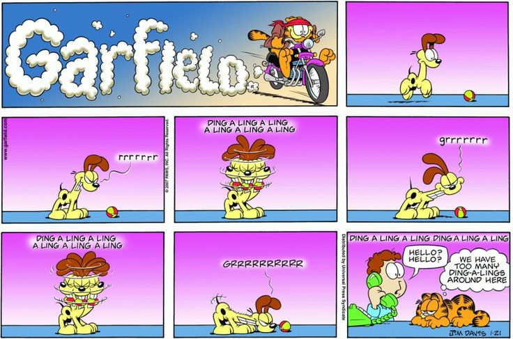 Garfield & Friends   The Garfield Daily Comic Strip for January 21st, 2007