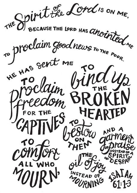 Isaiah 61 | Forms of Letters
