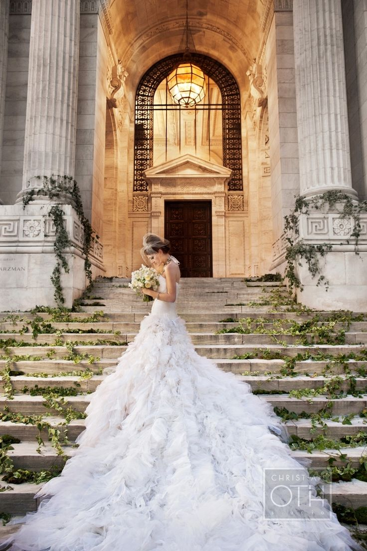 This wedding dress is my worst nightmare, realized, but holy cow, what a gorgeous shot.