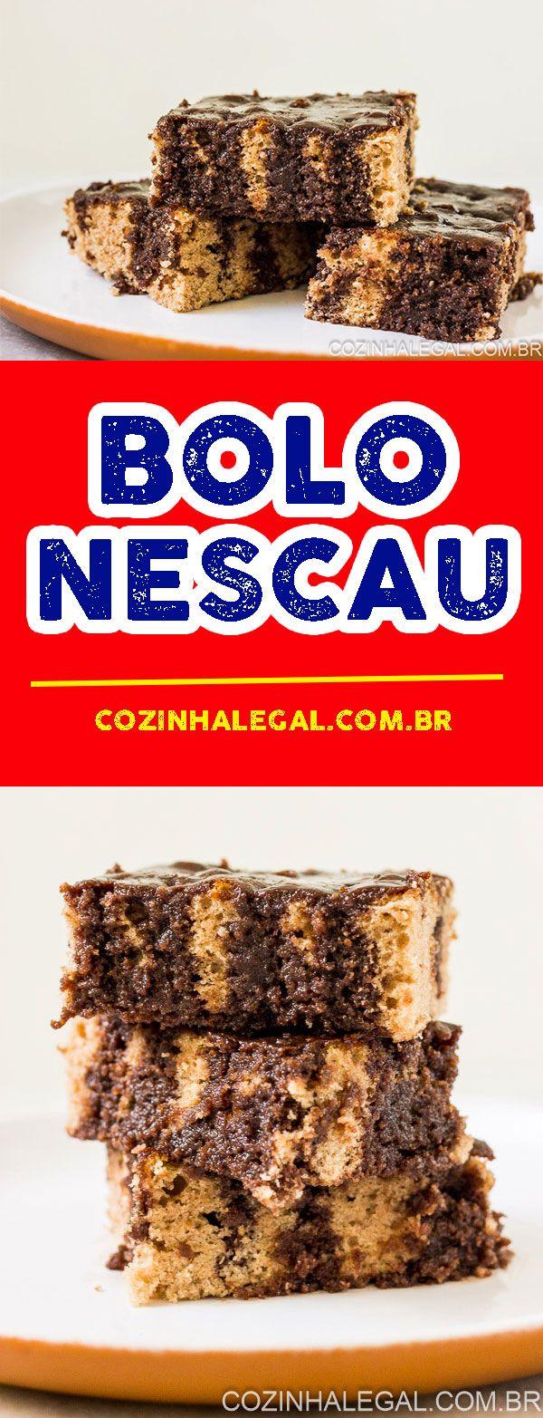 Sabor inconfundível de infância, esse bolo de Nescau com certeza vai te conquistar também. Massa super fofa com uma calda de chocolate que é sensacional.   cozinhalegal.com.br
