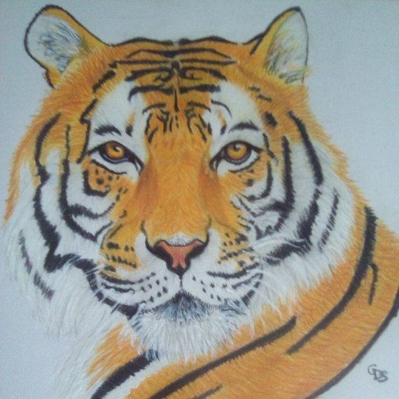 Drawing Realistic Tiger En 2020 Dessin Tigre Dessin Art Dessin