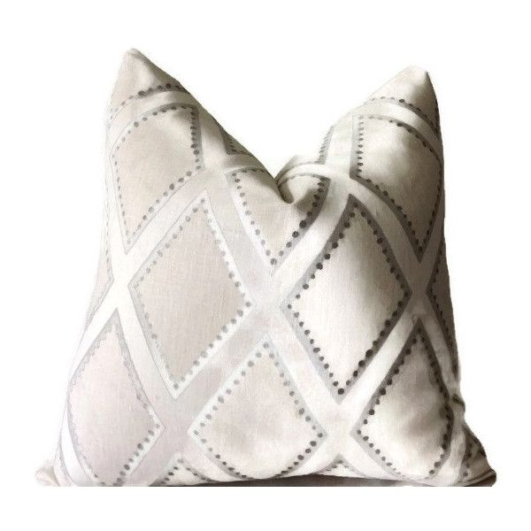 Sarah Richardson Pillow Cover Neutral Ivory Light Gray Linen Pillow... ($45) ❤ liked on Polyvore featuring home, home decor, throw pillows, black, decorative pillows, home & living, home décor, black toss pillows, black accent pillows and cream throw pillows
