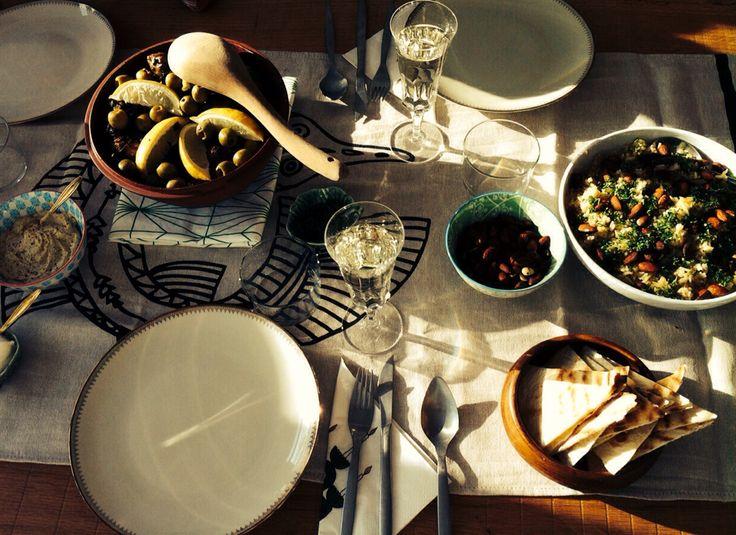Maroc chicken diner table