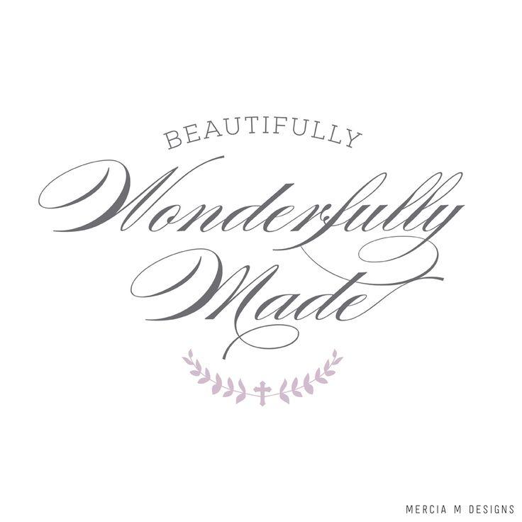 Beautifully Wonderfully Made Logo Design by Mercia M Designs