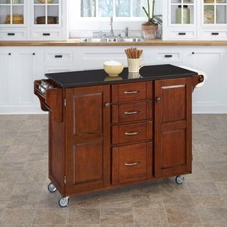 Cherry Finish Black Granite Top Create-a-Cart by Home Styles   Overstock.com Shopping - The Best Deals on Kitchen Carts