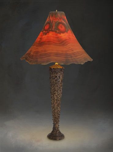 1000 Images About Turned Wood Lamps On Pinterest