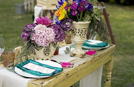 Van Gogh Inspired Rustic Wedding Decor