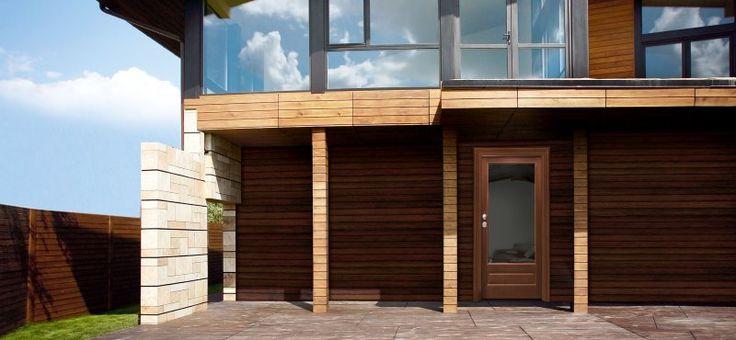 Dierre - Porta Vitra Porta di sicurezza con rivestimento in noce e vetro