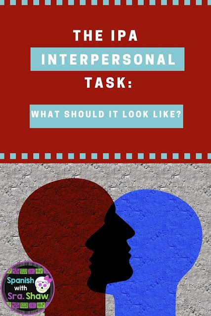Spanish with Sra. Shaw: How to Create and Give IPAs: Part 3: Preparing the Interpersonal Task