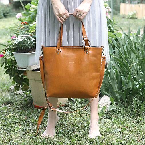 Kožená kabelka Bela (koňaková hnedá)  c06799d62ce