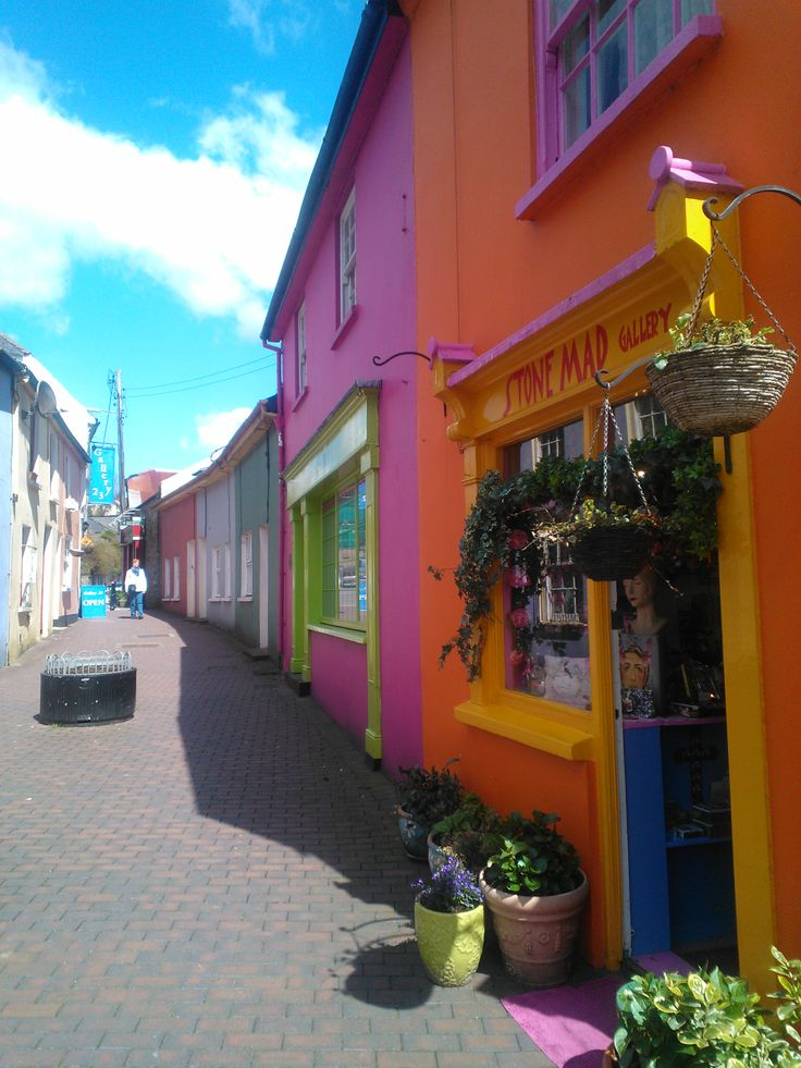Colourful streets in Kinsale.