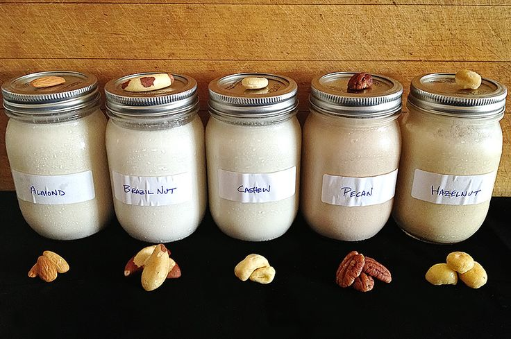 ♥️Homemade nut milk: Cashew milk, Almond milk, Brazil nut milk, Pecan milk,  Hazelnut milk.