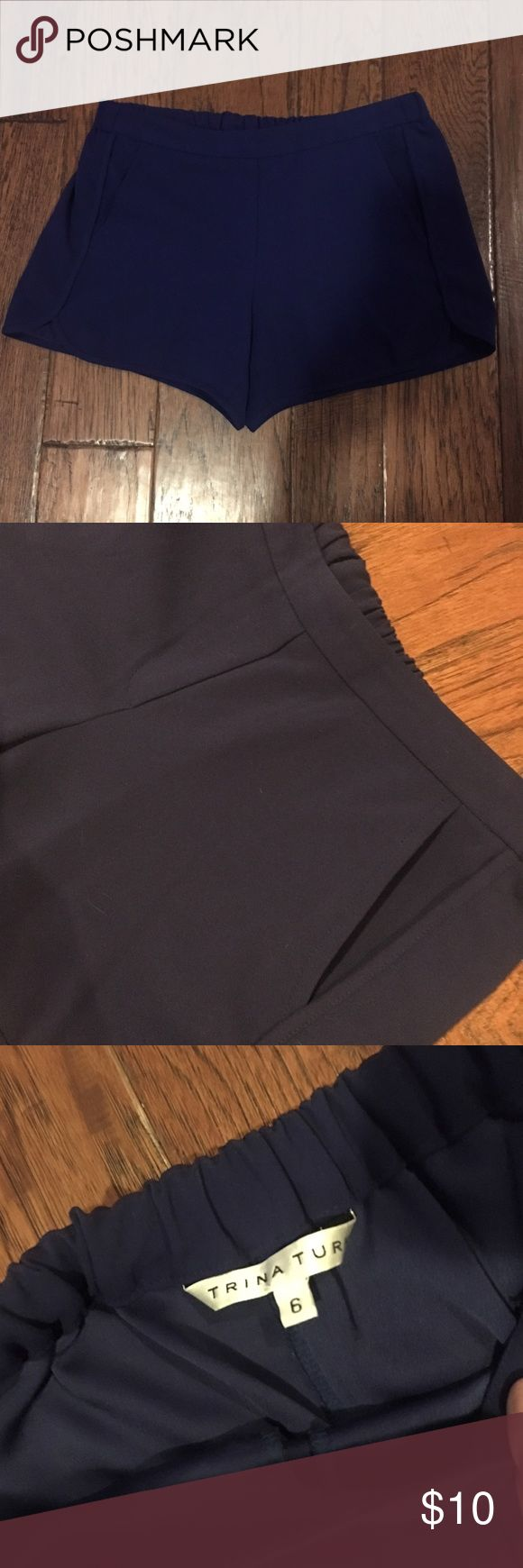 """Trina Turk Cobalt Blue Shorts Adorable and comfortable! Had a stretch waistband and pockets! You will love these shorts! Used but still has plenty of life left, priced accordingly. 3.5"""" inseam. First photo and last shows color the best! Trina Turk Shorts"""