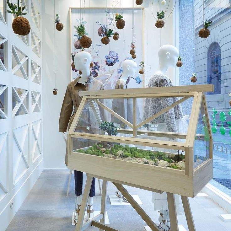 """FABIANA FILIPPI, Milan, Italy, """"A Green House for a Green Heart"""", for Salone Del Mobile, mannequins by Bonaveri Italy, pinned by Ton van der Veer"""