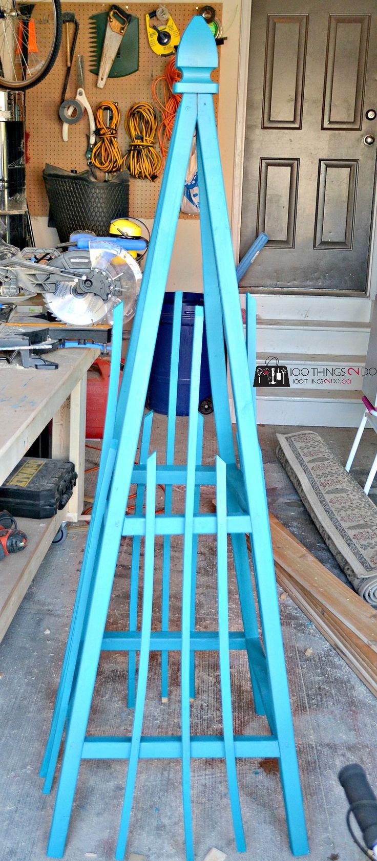 French tuteur trellis woodworking projects amp plans - Diy Tutorial For Garden Tuteur Obelisk For Your Climbing Vines