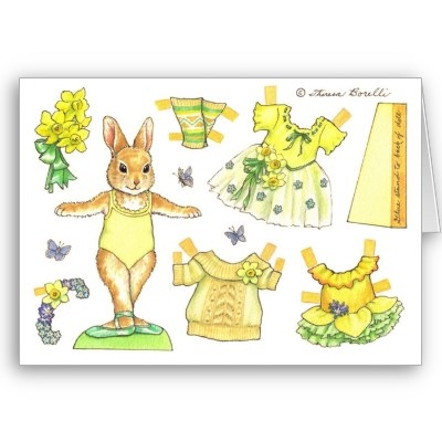 movable easter bunny paper doll 17 best images about mu 241 ecas de papel on 6940