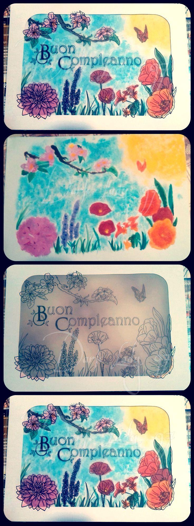 carta da lucido e pittura by Rigoni Chiara // Dark Lady 97
