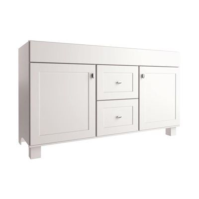 allen + roth Palencia White 60-in W x 21-in D White Transitional Bathroom Vanity