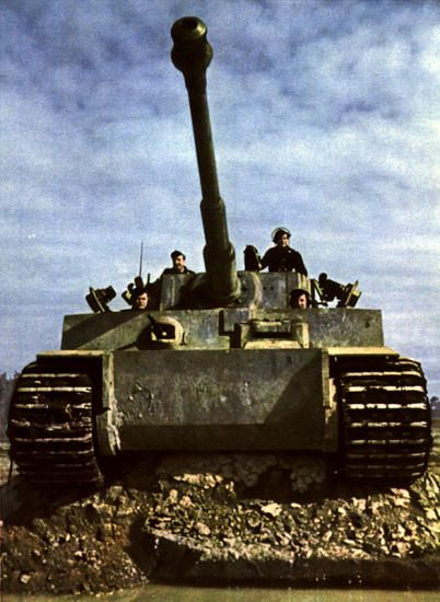 """WW2 - The Tiger Tank was a  German heavy tank developed in 1942. The final official German name was """"Panzerkampfwagen VI Tiger Ausf.E"""", often shortened to Tiger. It was an answer to the unexpectedly impressive Soviet armour encountered in the Axis invasion of the Soviet Union."""