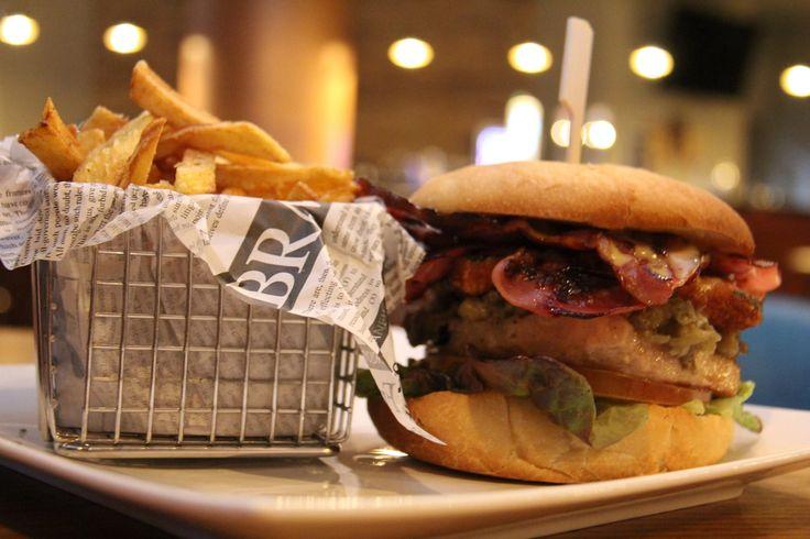Poolside burger and fries at Hard Rock Hotel Ibiza.