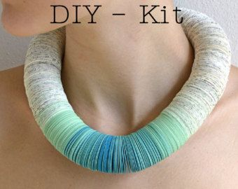 DIY Kit: Paper Necklace made of colored by PaperStatement on Etsy