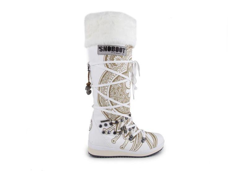 Snoboot - Stylové módní sněhule Tattoo High White / bílá | obujsi.cz - dámská, pánská, dětská obuv a boty online, kabelky, módní doplňky