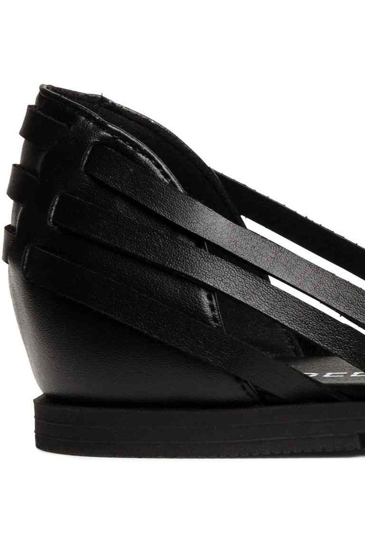 Sandalias trenzadas - Negro - MUJER   H&M ES