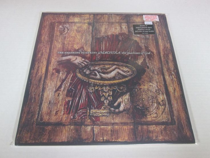 Smashing Pumpkins album: MACHINA : THE MACHINES OF GOD (2000 ORIGINAL-DOUBLE ALBUM! GATEFOLD SLEEVE + BOOKLET! STILL SEALED + COVER STICKER) CAROLINE RECORDS CAR 48936 724384893613