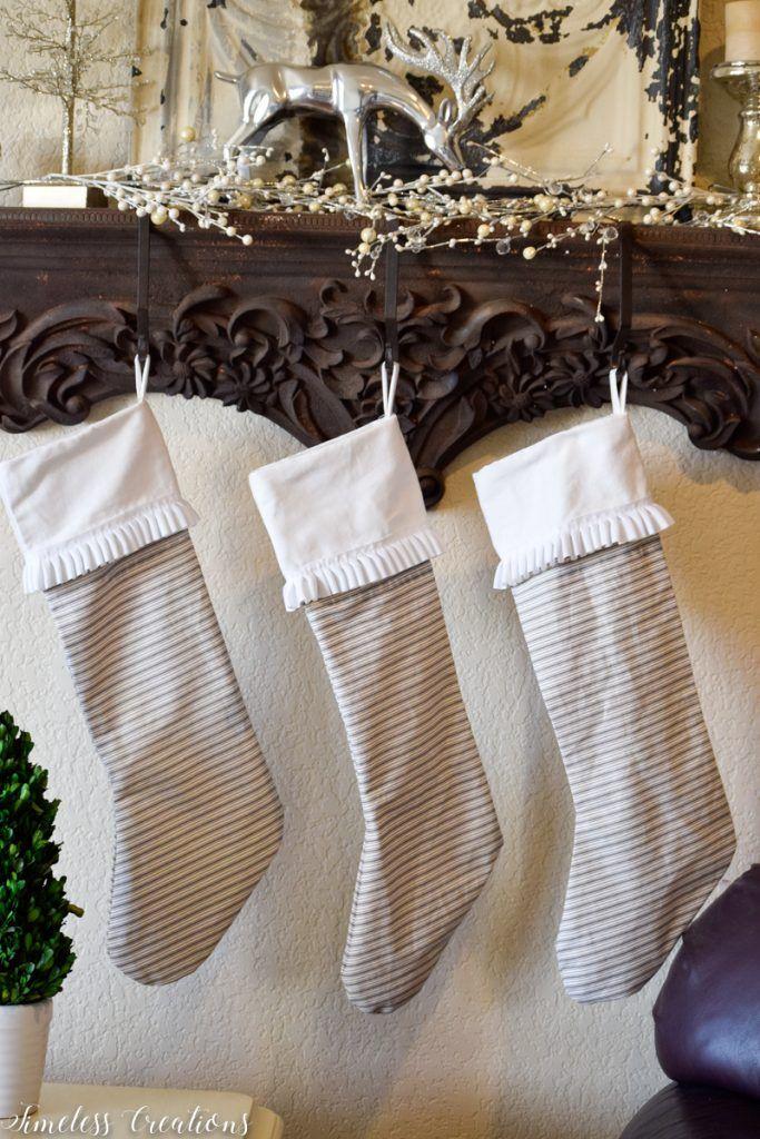 DIY Ticking Stripe Stocking – Handmade Holidays Hop