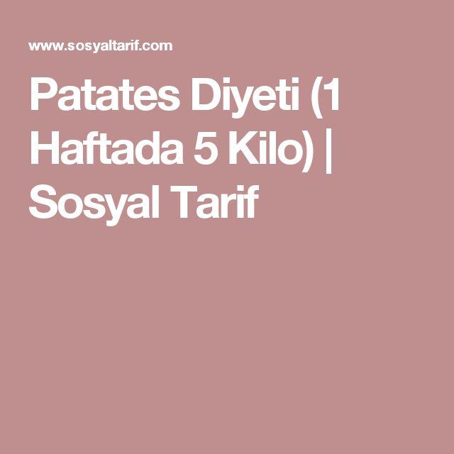 Patates Diyeti (1 Haftada 5 Kilo) | Sosyal Tarif