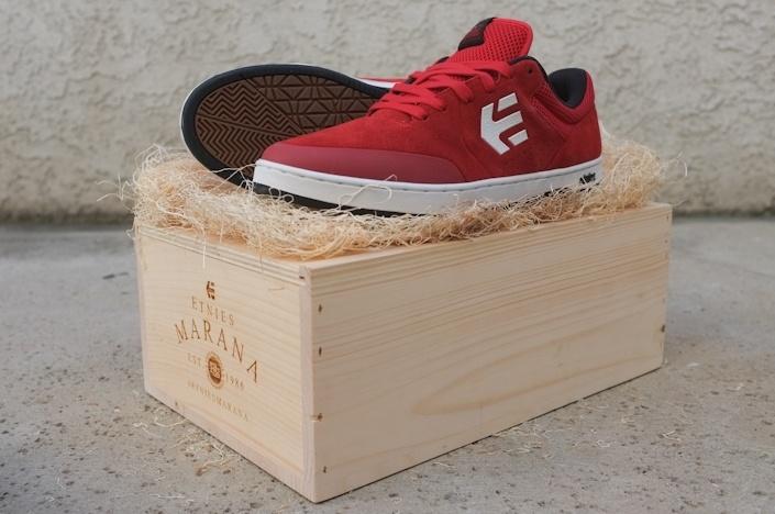 Etnies Wine-themed shoe box crate
